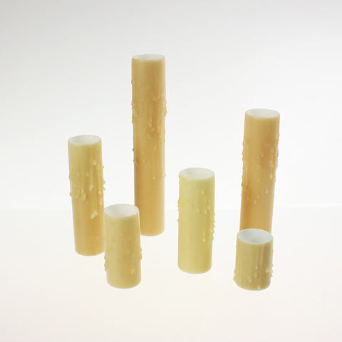 Tan (Bone) Drip Beeswax Candle Covers (6 sizes), medium base