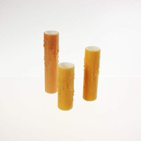 Golden Rod (Honey) Drip Beeswax Candle Covers (5 sizes), medium base