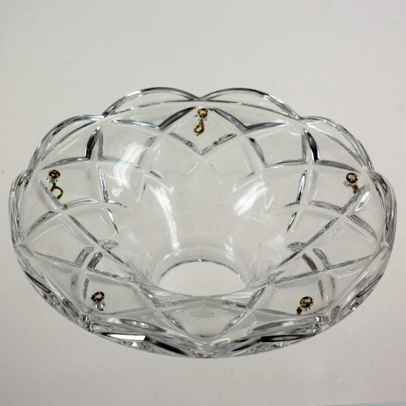 "4.4"" ASFOUR 30% Lead Crystal Bobeche<br>5 pin"