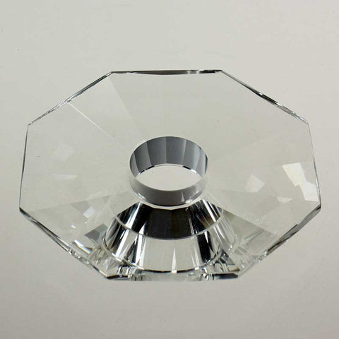 "4"" Clear Flat 8-Sided Bobeche <br>No or 4 pin"