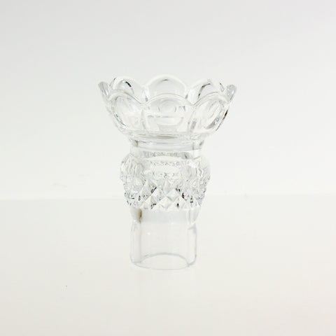 "4"" Hand Cut/Polished Candle Cup"
