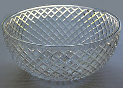 "8"" Clear Criss Cross Cut Bowl"