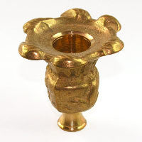 "2-3/4"" Cast Brass Candle Cup"