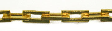 Solid Brass Rectangular Link Chain