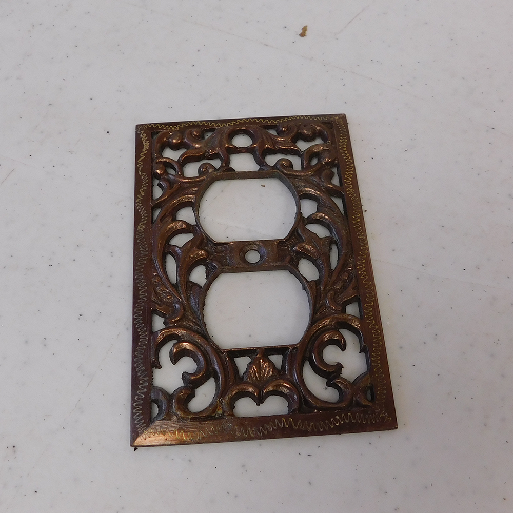 Decorative Cast Brass Outlet Cover
