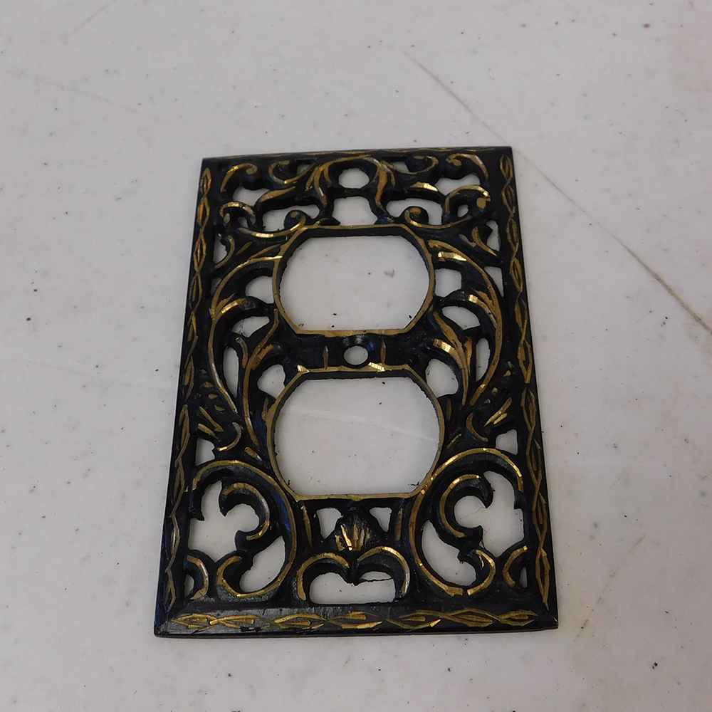 Decorative Cast Black Single Light Switch