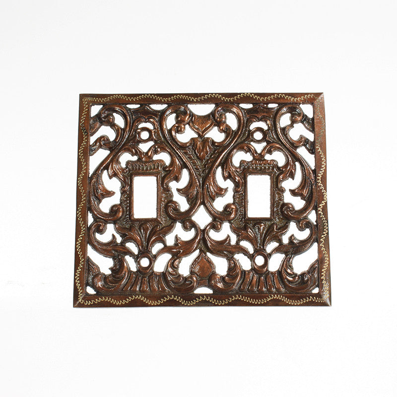 Decorative Cast Brass Double Light Switch