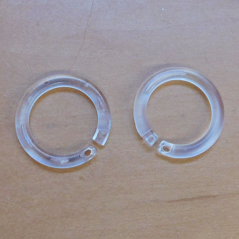 "1"" Plastic Opening Ring, snap shut<br> (Packs of 10)"