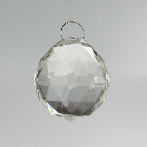 40mm Acrylic Faceted Chandelier Ball w/ Chrome Loop