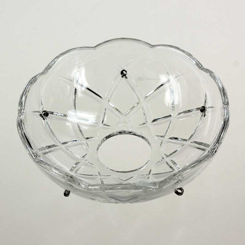 "4"" ASFOUR 30% Lead Crystal Bobeche<br>5 pin (3 versions)"