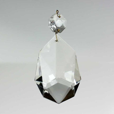76mm West German Crystal Special Teardrop w/ Top Bead