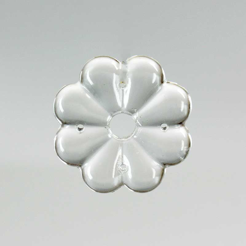 30mm Clear Rosette w/ 5 Holes