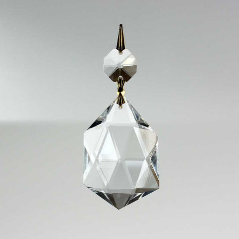 Morocco 6 Sided Point Prism w/ Top Bead <br> (2 sizes)