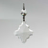 "2-1/2"" Leaded Clear Cross Prism<br> w/ Top Bead"
