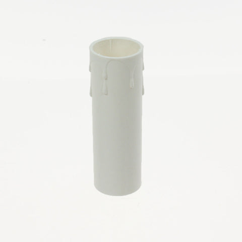 "1 Dozen Off White 3"" Plastic Candle Covers, with Drip"