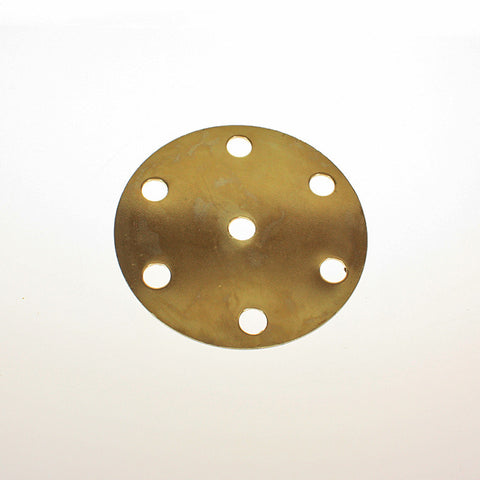 "4"" Brass Distributor Plate w/ 6 arm holes"