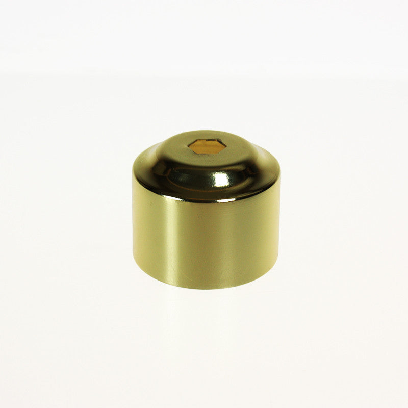 Brass Colored Candle Cover