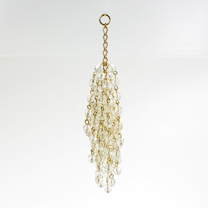 6mm Beaded Crystal Tassels <br> (2 styles)