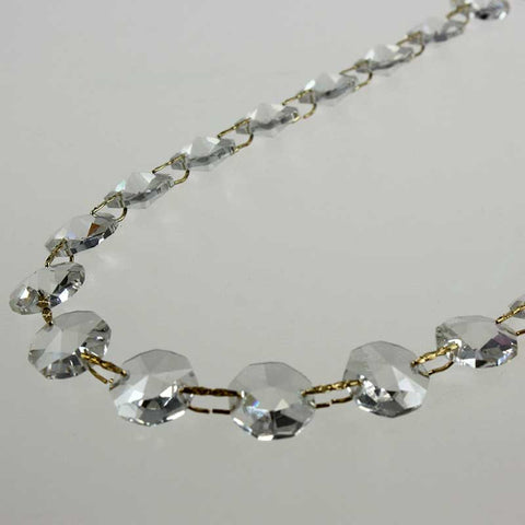 14mm 52 Bead Leaded Crystal Chain<br>1 Meter