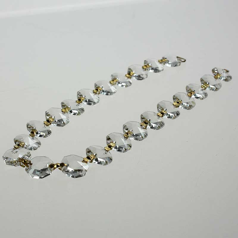 14mm Leaded Crystal Chains<br>22 and 28 bead