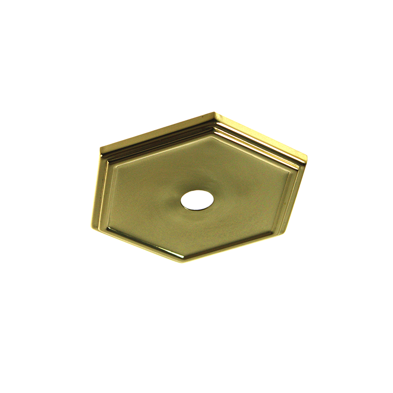 Rusch Polished Brass 95mm Hexagonal  Cover