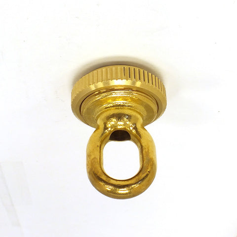 1/4 IP Heavy Duty Brass Screw Collar Loop w/ Ring