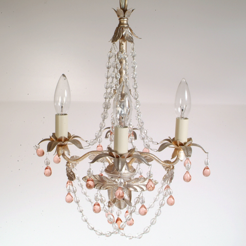 Schonbek Adagio Collection Mini 4-Light Crystal Chandelier #5099-91PK (SWWM)