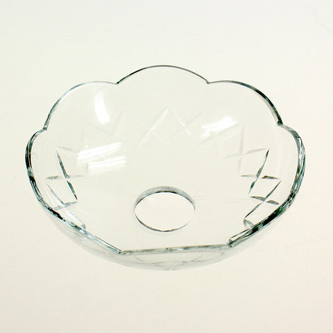"4"" Czech Crystal Bobeche<br>No pin"