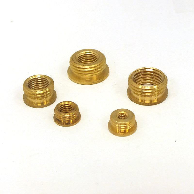 Solid Brass Bushing Reducers w/ Head (5 Sizes)