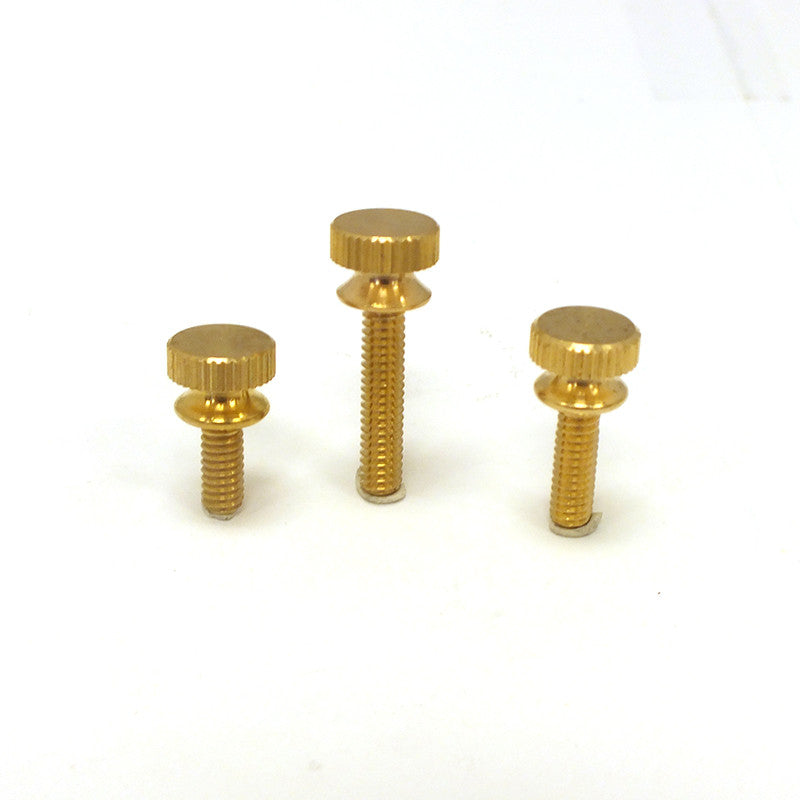 Knurled Head Screw 8/32 Thread (3 Sizes) Brass