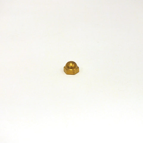 "9/32"" Solid Brass Hexagon Capnut, Tap 8/32 F"