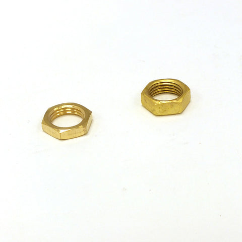 "1/2"" Brass Hex Nut, 1/8 IP (2 Sizes)"