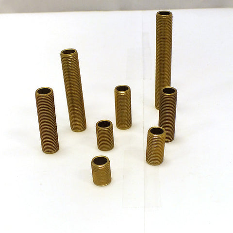 Solid Brass Threaded Rod, 1/8 IP (8 Sizes)