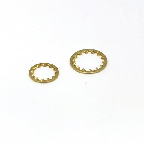 Brass Plated Lock Tight Washers (2 Sizes)