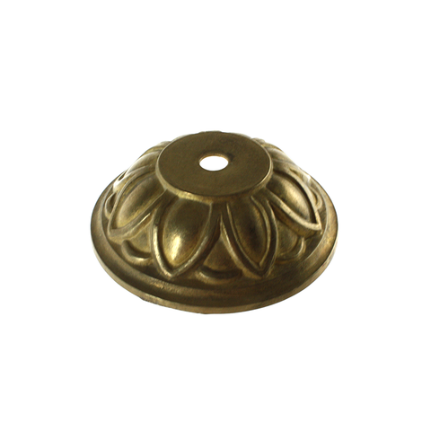 "4"" Brass Canopy Round Lamp Base"