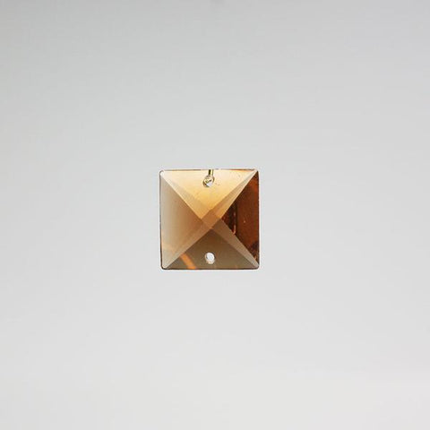 SPECIAL - 16mm Amber Square Prism (2 hole)