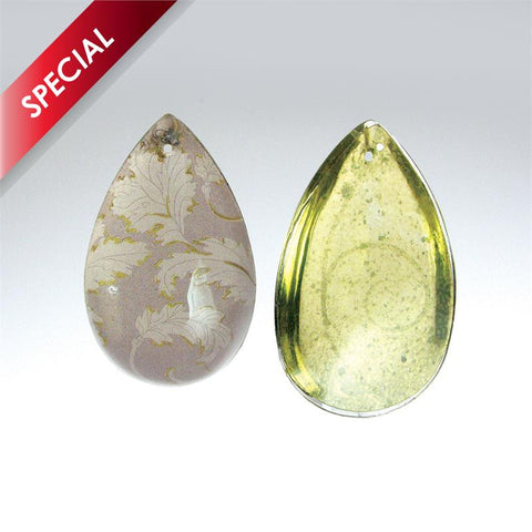 SPECIAL - Designer Cappuccino/Yellow Half Pear Prism <br> (3 sizes)