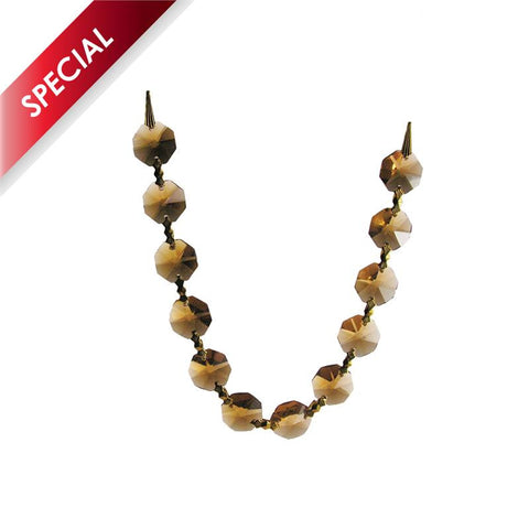 SPECIAL - Golden Teak 14mm Octagon Chain, 1 meter length (brass pinned)