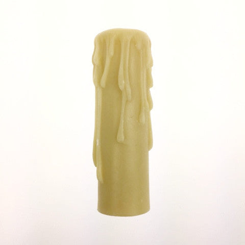 "4"" Ivory Resin Drip Candle Cover (candelabra base)"