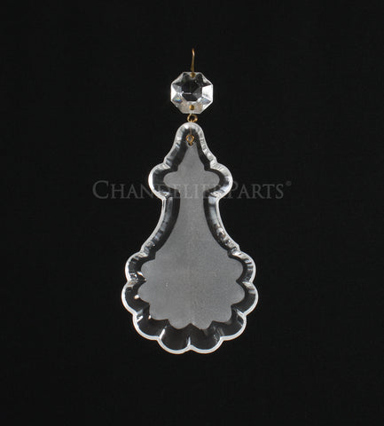 "4"" Frosted Turkish Pendalogue w/ Top Bead"