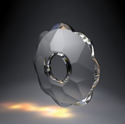 "SWAROVSKI Clear Bobeche<br>90mm (3.6"") 4 Pin Holes"