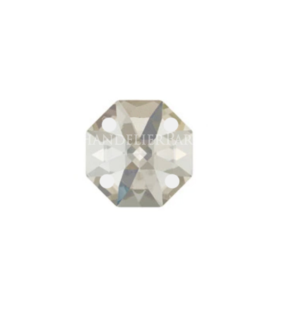 SWAROVSKI STRASS®<BR> Colored 4-Hole Octagon, Silver Shade (2 Sizes)