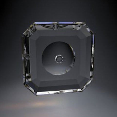 "SWAROVSKI Clear Bobeche<br>90mm (3.6"") No Pin Holes"
