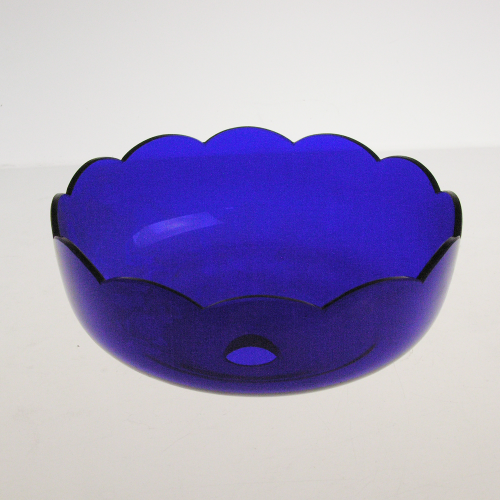 "7"" Blue Crystal Bobeche<br>No pin"
