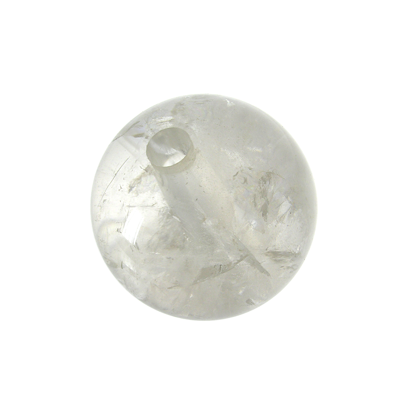 Clear Ball Rock Crystal, center through-hole (3 sizes)