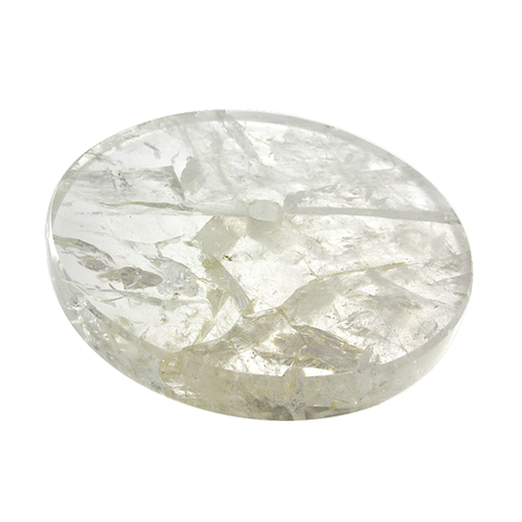 Clear Round Base Rock Crystal (3 sizes)