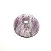"Rock Crystal Amethyst Bobeche<br>100mm (4"") No pinholes"
