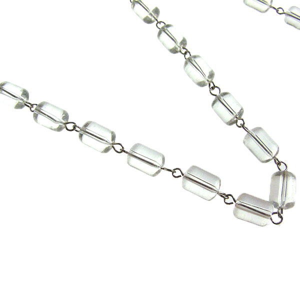 Clear 11mm Barrel Bead Y Chain<Br>(chrome pinned)