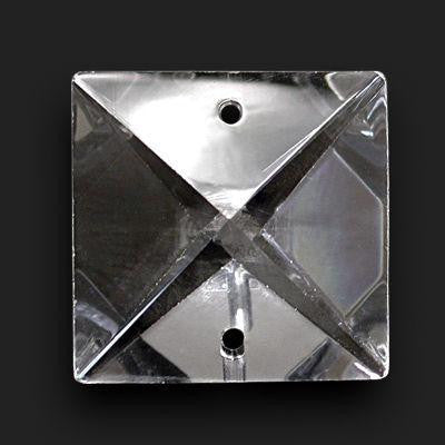 Crystal Square W/ 2 Holes Turkish Hand Cut <br> (4 Sizes)