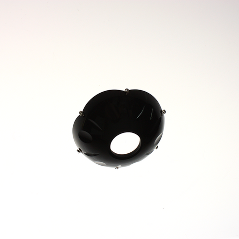"3"" Black Czech Bobeche<br>6 pin"